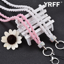 Pearl Rhinestone phone Lanyard Rope, Fashion Bead phone Camera straps lanyard accessories phone Camera Universal Lanyard Rope
