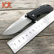 LDT 0700 BW Folding Knife 5Cr13Mov Blade Glass Plastic Handle Tactical Knives Camping Hunting Pocket Survival Knife EDC Tools