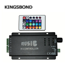 DC12V-24V 2 channels RGB mucis controller with wireless IR remote 24 Keys Wireless IR Remote Control LED  Sound Control