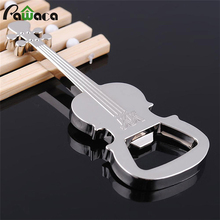 Creative Music Guitar Metal Bottle Opener Beer Open Key Chains Switch On With Metal Pendant Keychain Feet Beer Openers(China)