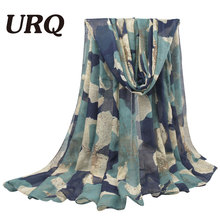 100*180cm Large Size Fashion Winter Hot sale Flower Print Women long Cotton Viscose Scarfs V10A18163(China)