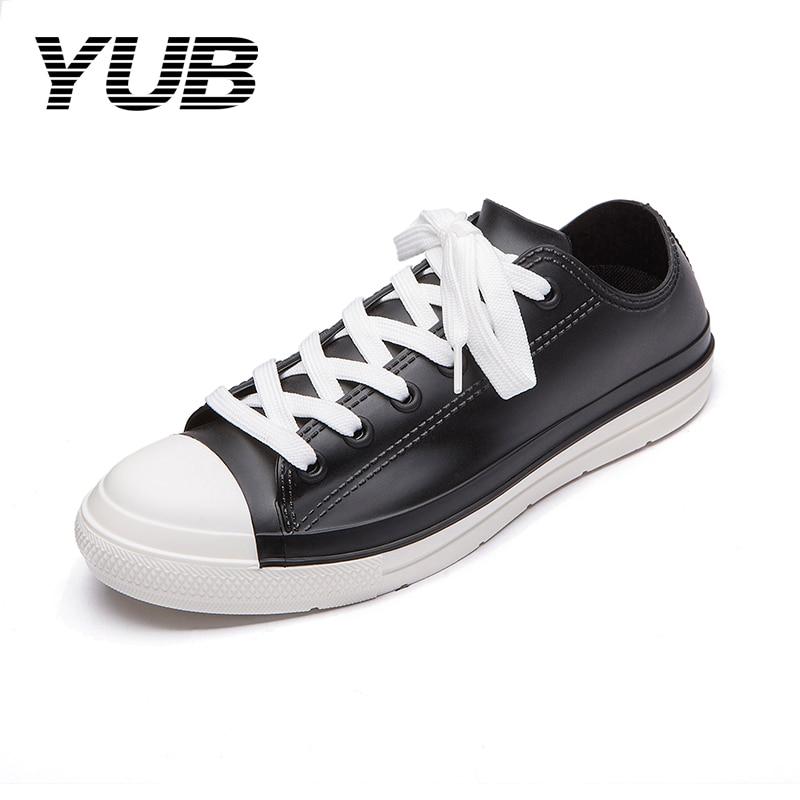 YUB Brand Womens Waterproof Sneakers PVC Tenis Feminino Canvas High Quality Rain Boots Women 8 Colors Size 5-11<br>