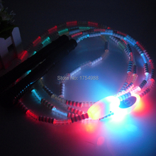 7 Colors changing LED Flashing Skiing Rope Adults Fitness Equipment Glowing Light Up Skipping Jump Rope christmas party gift