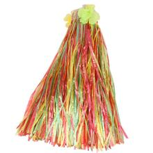 New Hotsale Best Price In Aliexpress promotion Hawaiian Hula Grass Skirt With Flowers Fancy Dress Party Hen Night Beach Parties