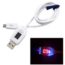 Best Price Digital LCD Display Micro USB Data Charging Voltage Current Cable Cord For Android Phone12.1