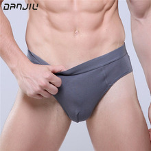 Buy DANJIU 2017 Men's Modal Underwear Calzoncillos U Convex Sexy Mens Underpants Briefs Breathable Comfortable Solid Color Panties