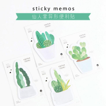 1PC/lot Cactus design memo pad Novelty sticky note Office material memos post it Message notes supplies (tt-2767)