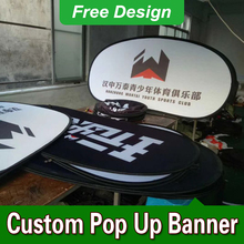 Free Design Free Shipping Vertical Top Banner Frame Pop Up Signs Banner Frame Stand(China)