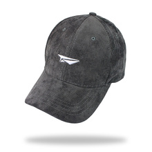 New solid plain corduroy strapback baseball cap embroider airplane women men adjustable unisex sun hat high quality bone gorras