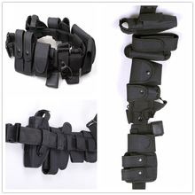Tactical Police Duty belt Security Belts Tactical Military Training Polices Guard Utility Kit Duty Belt with Pouch Set(China)