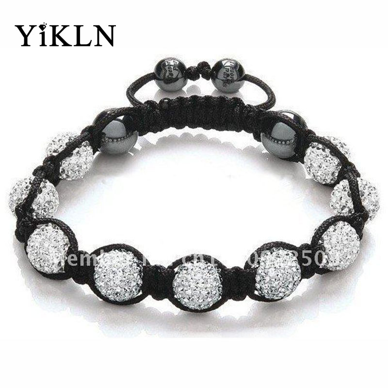 YiKLN Shamballa Jewelry Bracelets For Women New Shamballa Bracelet 10mm Micro Pave CZ Disco Ball Beads Shamballa Bangles SHBR21(China (Mainland))