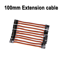 10pcs/lot 100mm 10cm JR male to male plug servo connecting extension lead cord cable wiring for RC quadcopter multicopter toys(China)