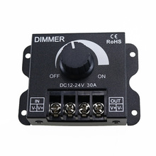 Buy 30A LED Dimmer DC 12V 24V 360W Adjustable Brightness Lamp Bulb Strip Driver Single Color Light Power Supply Controller 5050 3528 for $7.09 in AliExpress store