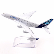 16cm Airbus A380 Alloy Airplane Model Passenger Plane Metal Airlines Mini Toy Aircraft With Stand Birthday Gift Collections(China)