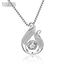 Necklace fashion jewelry 925 silver female Swing design crystal band pendants personality necklaces for women