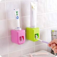 Home Automatic Toothpaste Dispenser Squeezer Wall Mount Auto Squeezer Toothpaste Dispenser Hands Free Squeeze Out(China)