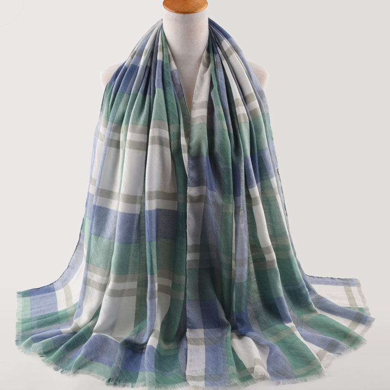 Plaid print cotton scarves,cotton plaid scarf,geometric scarf,Muslim hijab,shawls wraps,muffler,shawls and scarves,british style