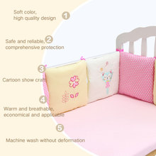 Buy 6Pcs/Set Baby Crib Cot Bumper Cushion Toddler Infants Bedding Safety Breathable for $27.16 in AliExpress store