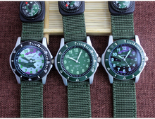 Military Compass Watch Men Hobby Fans Fashion Camouflage Design Features Luminous Dial Outdoor Sports Wrist Watches XF0118