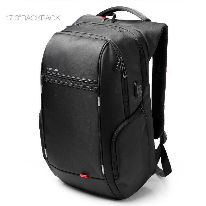 Kingsons Antitheft Laptop Backpack 17.3 inch 15.6 Waterproof Notebook Backpack for Men Women External USB Charge Computer Bag<br>
