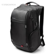 Kingsons Antitheft Laptop Backpack 17.3 inch 15.6 Waterproof Notebook Backpack for Men Women External USB Charge Computer Bag(China)