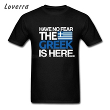 Have No Fear The Greek Is Here Men T Shirt Short Sleeve O-Neck TShirt Cotton Tee Shirt Homme Summer Brand Clothing Oversized