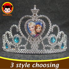 Fashion Girls Princess Crown Anna Elsa Hairbands For Kids Cosplay Crown Girls Hair Accessories Celebration Birthday Gifts SP14