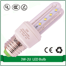 2U energy saving bulb 3W 2835 E27 led corn light lamp led bulb light e27(China)
