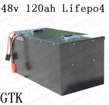 Lifepo4 48v 120ah lithium battery pack 48V for 5000W electric tricycle forklift sightseeing car EV battery ship battery cargo(China)