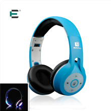 E T Wireless bluetooth headset Luminous led Light Glowing sports Headphones with Mic music Earphone for xiaomi huawei samsung