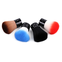 1pcs New Colorful Nail tools Brush For Acrylic & UV Gel Nail Art Dust Cleaner nail dust brushes