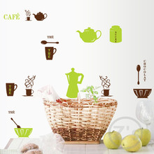 Furniture for kitchen coffee decor  wall sticker home decor diy adhesives art mural poster kitchen wall decals removable