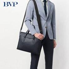 BVP Men Briefcase Genuine Leather Bag Handbag Business Shoulder Messenger Bags Top Quality Real Leather Male Crossbody Bag 50