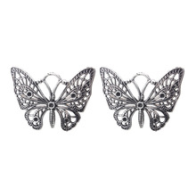 Buy 5pcs/lot 48*38mm Antique Silver Butterfly Charm Animal Pendant Bracelet Necklace Diy Jewelry Making Accessories for $1.43 in AliExpress store