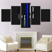 Wall Art Modular Pictures HD Prints Abstract Poster 5 Pieces American Flag Canvas Paintings For Living Room Home Decor Framework(China)