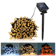 50 100 200 LED Solar Power Fairy Lights Holiday Lighting Christmas Holiday Party Outdoor Garden Xmas Tree Decoration String Lamp(China)