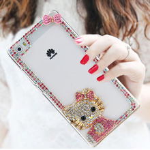 2017 Fashional Bling Diamond Cell Phone Case Shell For Huawei P8 Max,Transparent Rhinestone Phone Case Cover For Huawei P8 Max