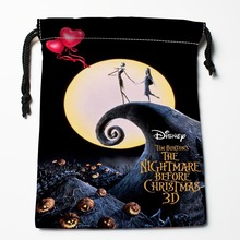 Best Nightmare Before Christmas Drawstring Bags Custom Storage Printed Receive Bag Type Bags Size 18X22cm Storage Bags