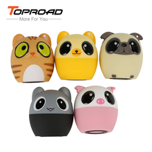 TOPROAD Mini Wireless Bluetooth Speaker Portable Cartoon Animal Music Player Support Handsfree self-timer bluetooth caixa de som(China)