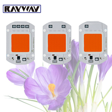 RAYWAY AC110V 220V Full Spectrum Plants led grow light chip Waterproof 20W 30W 50W cob Floodlight DIY LED Grow Lamp Light Source