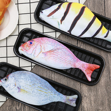 1 Pcs Creative Fish Shape Pencil Case Kawaii Korea Style Cloth Pencils Bags School Supplies Stationery Hot Pen Box