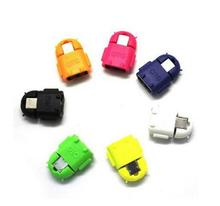 Random color cute Robot Shape Android Micro USB To USB 2.0 Converter OTG Adapter For Samsung Galaxy S3 S4 S5