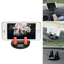 Car Holder Mobile Phone Auto Holders 360 Degrees Rotation For iPhone Hooks Sunglasses Mini Dashboard Desk Mount Universal(China)