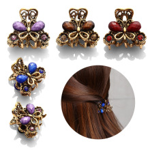 Fashion Women hair accessories hairpins Crab Retro Mini Butterfly hair claw clip Headband for Lady Girls 2017 Hot Sale(China)