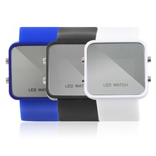 OUTAD Mens Sports Digital LED Silicone Strap Watches Square Dial Casual Wristwatch Unisex Men Women choice(China)