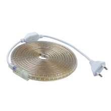 SMD 3014 AC220V led strip light 1M/2M/3M/4M/5M/6M/7M/8M/9M/10M/15M/20M/25M,120leds/m IP67 waterproof led Strips with Power plug