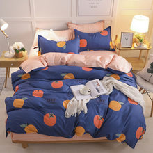 3/4Pcs Bedding Set Pastoral Plant Printing Pillowcase Duvet Cover Bed Sheet King Queen Tiwn Full Home textile Family Bed Linens(China)