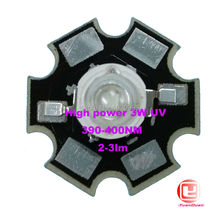 Factory Sale, 10PCS/LOT 3W UV High Power 395NM LED Emitter Light  with 20mm Star Platine Heatsink