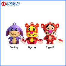 USB 3.0, 4GB 8GB 16GB 32GB 64GB Usb Flash Drive Pendrive Cute Donkey Tiger U Disk Pen Drive lovely tiger memory stick flash card
