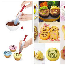 1pcs Silicone Funny Drawing Food Writing Pen Chocolate Decorating Pen Cake Mold Fondant Cake Cream Decorating Tools